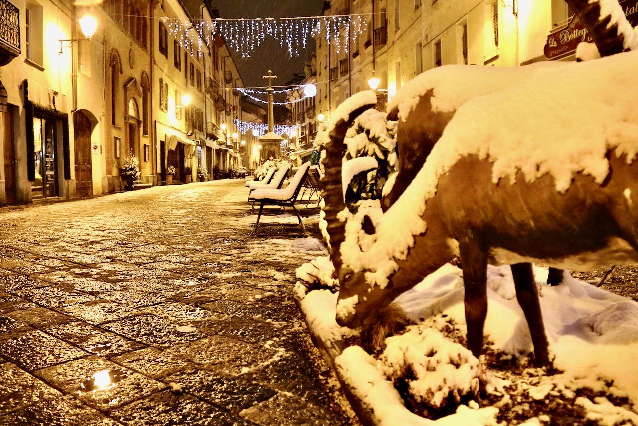 Nevicata ad Aosta