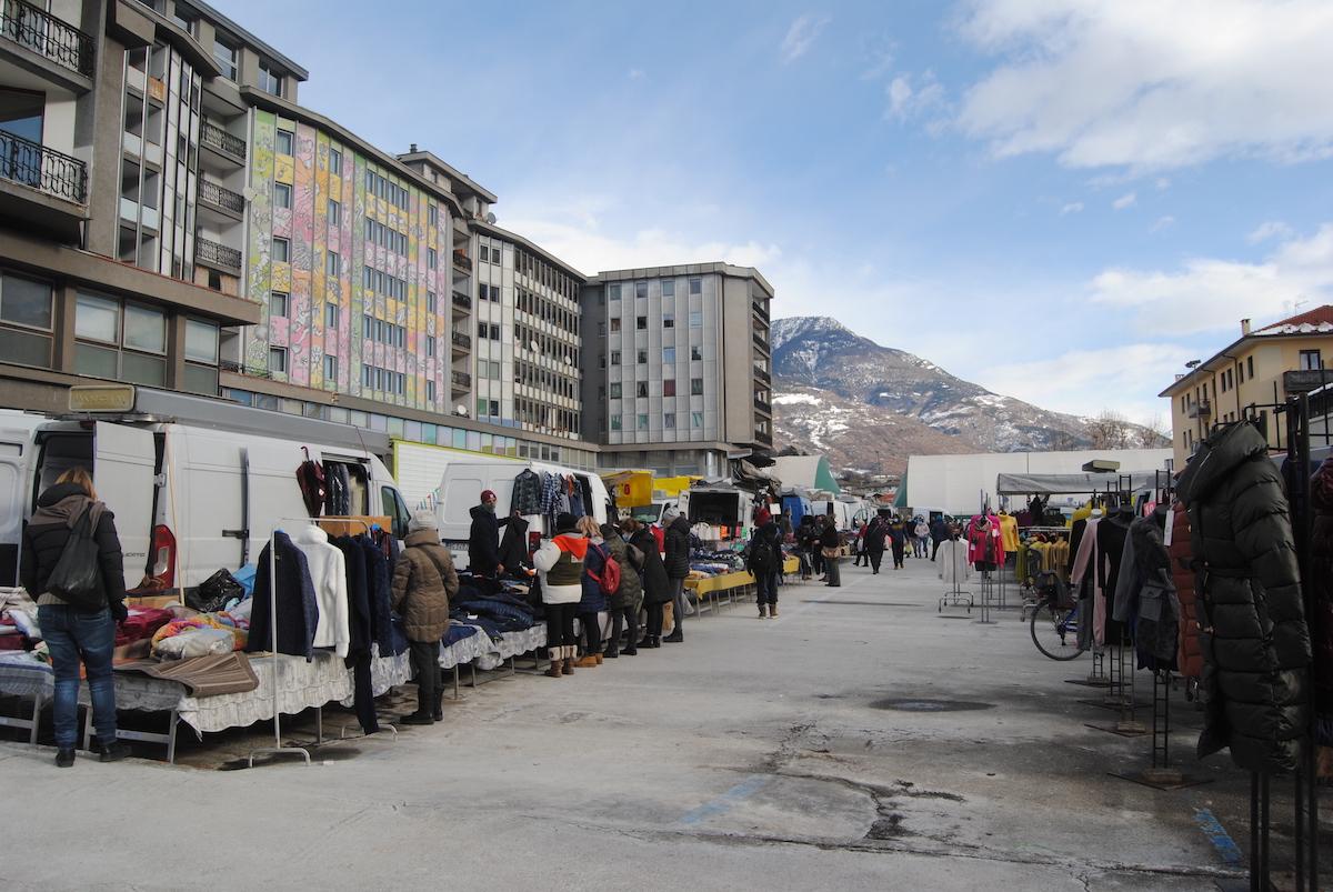 Il mercato di Aosta