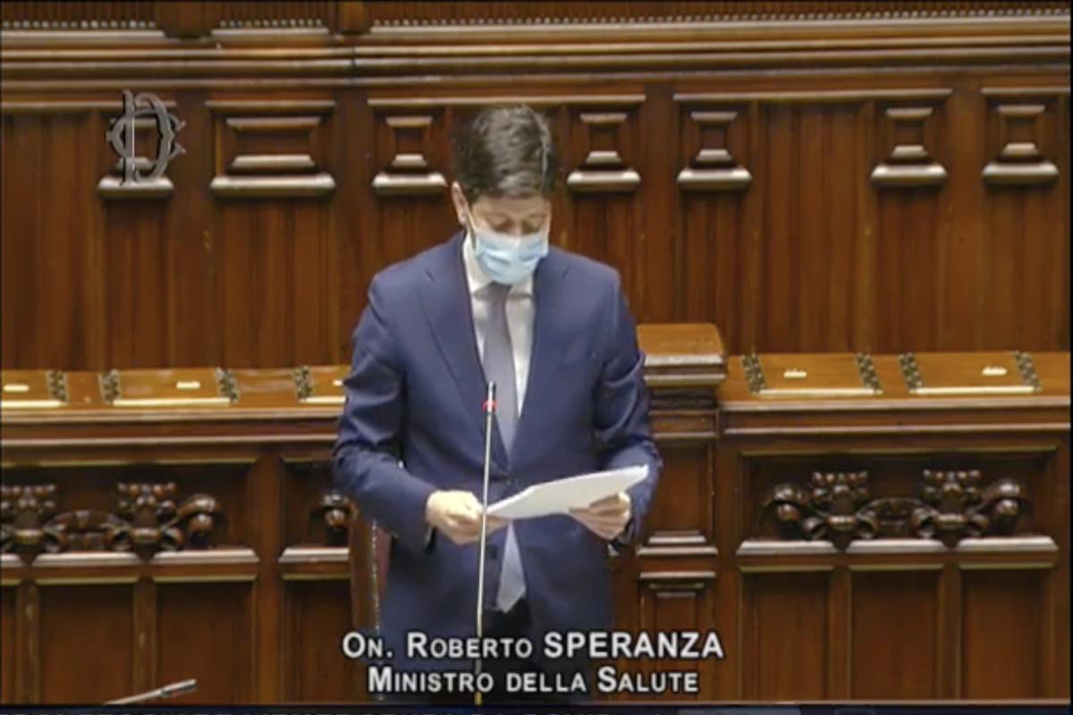 Il Ministro della Salute Roberto Speranza alla Camera dei deputati