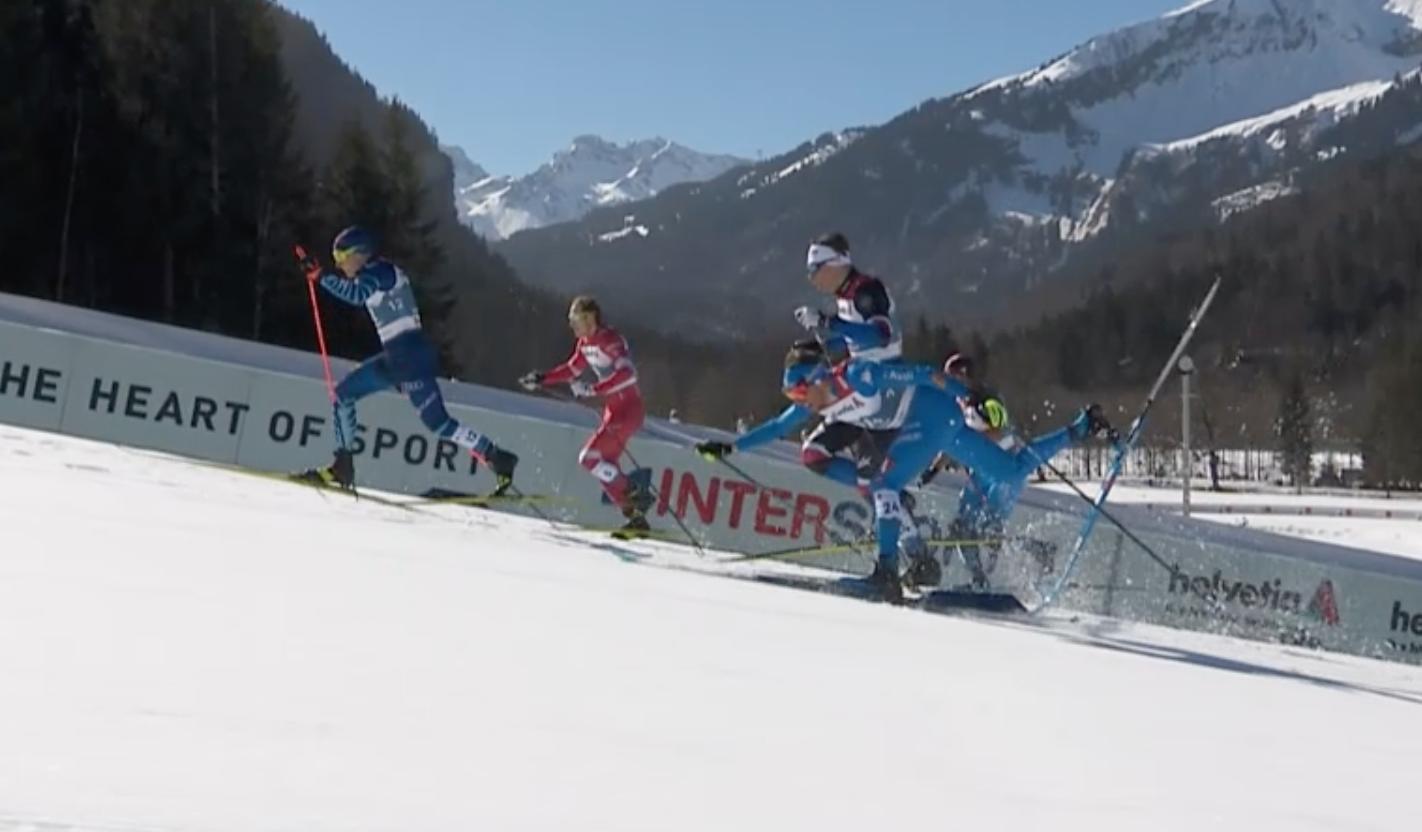 De Fabiani Mondiali Oberstdorf caduta