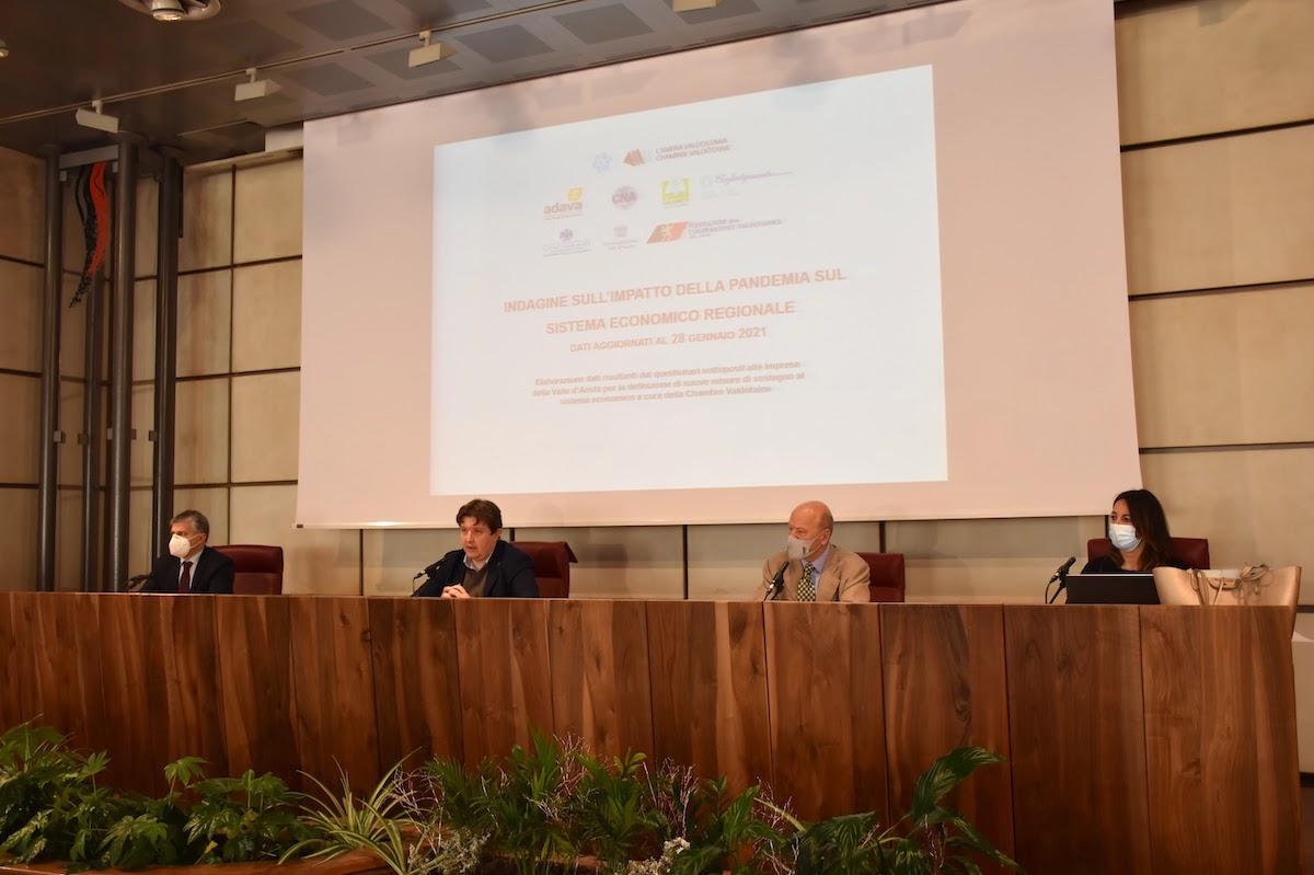 La presentazione del questionario della Chambre sulle imprese valdostane