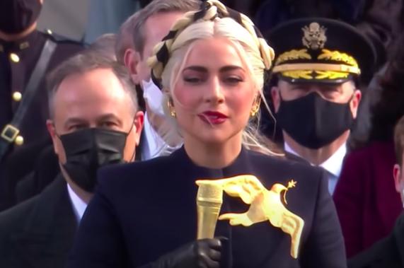 Lady Gaga il giorno dell'insediamento del Presidente Biden