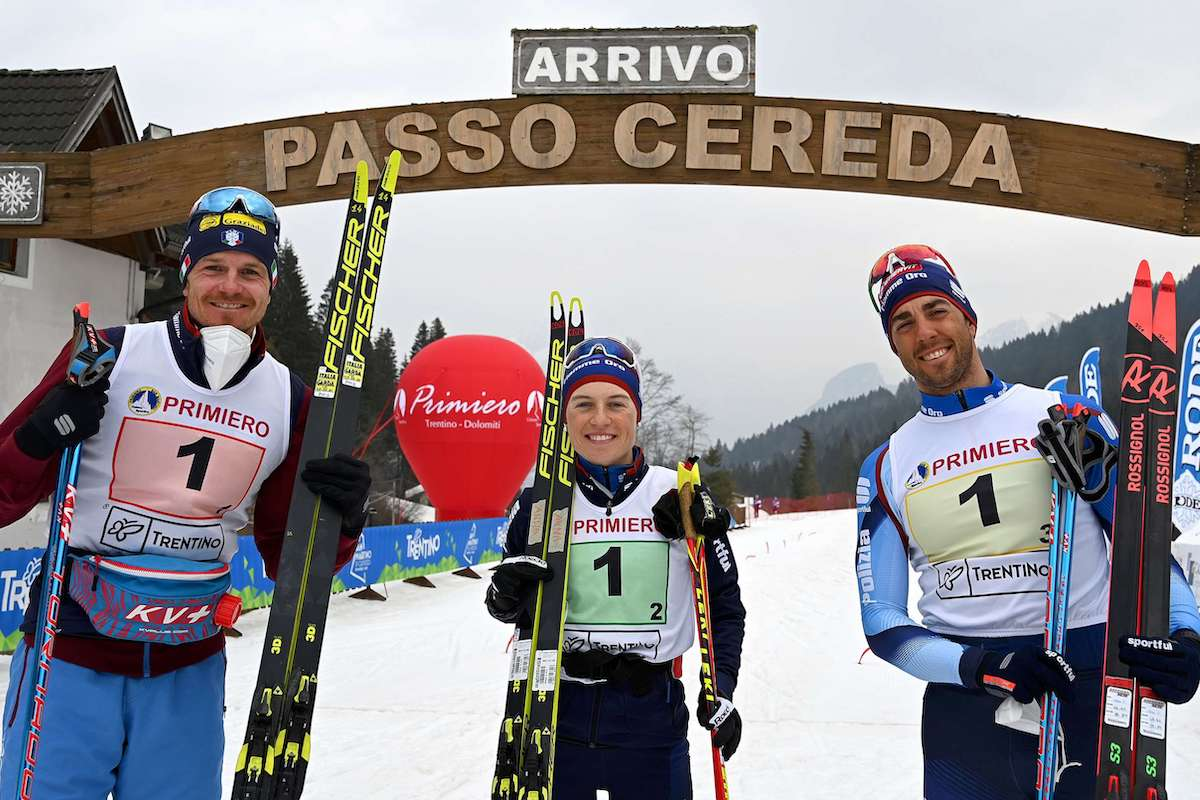 Dietmar Noeckler, Anna Comarella e Federico Pellegrino a Passo Cereda/Primiero