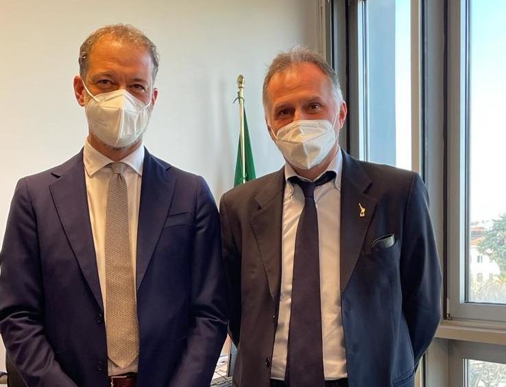 Alessandro Cavaliere con Ministro Garavaglia