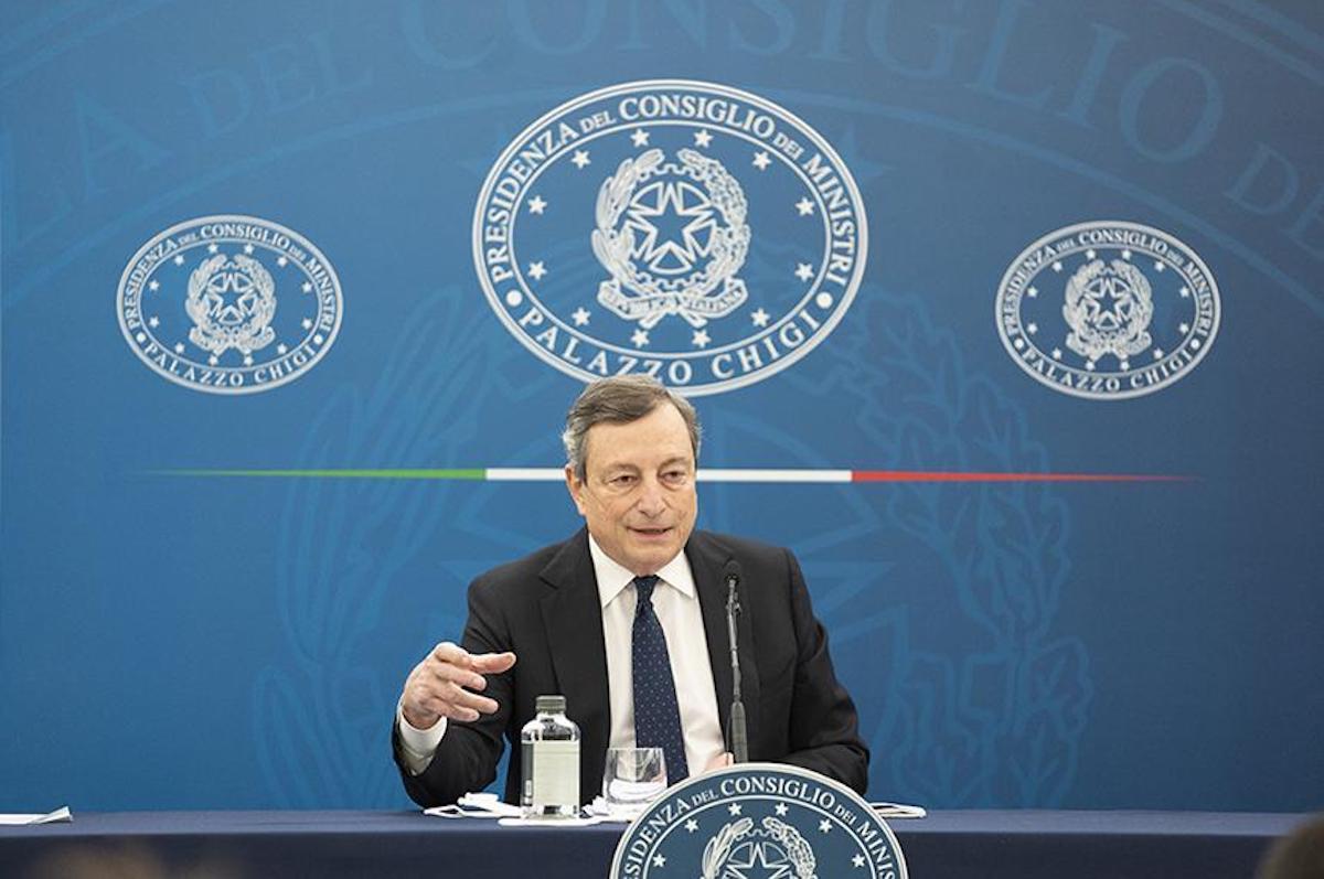 Il Presidente del Consiglio dei Ministri Mario Draghi