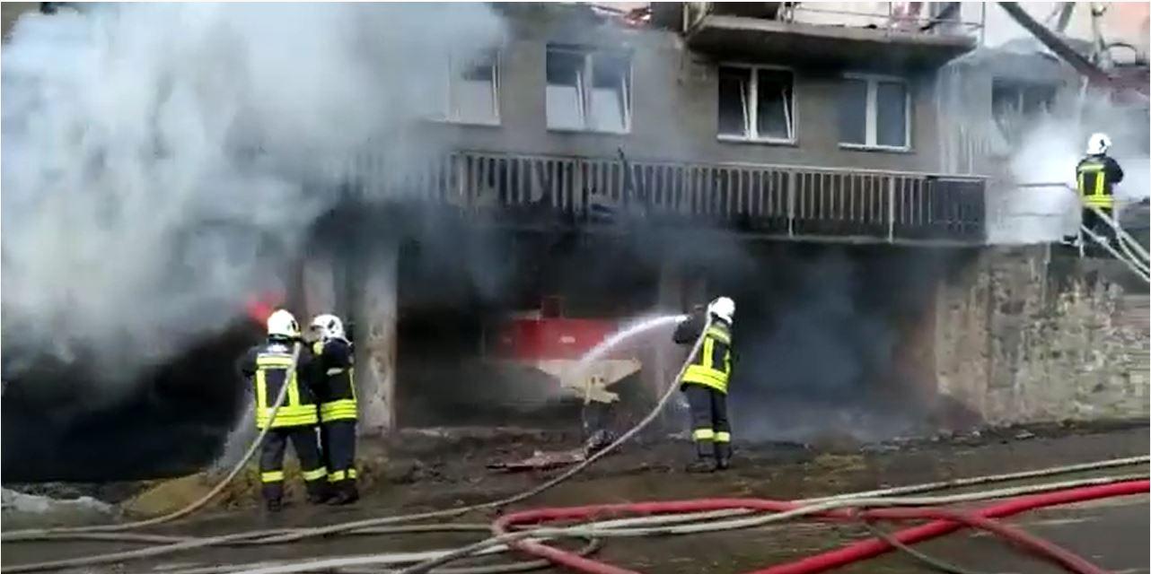 Incendio azienda Arnad