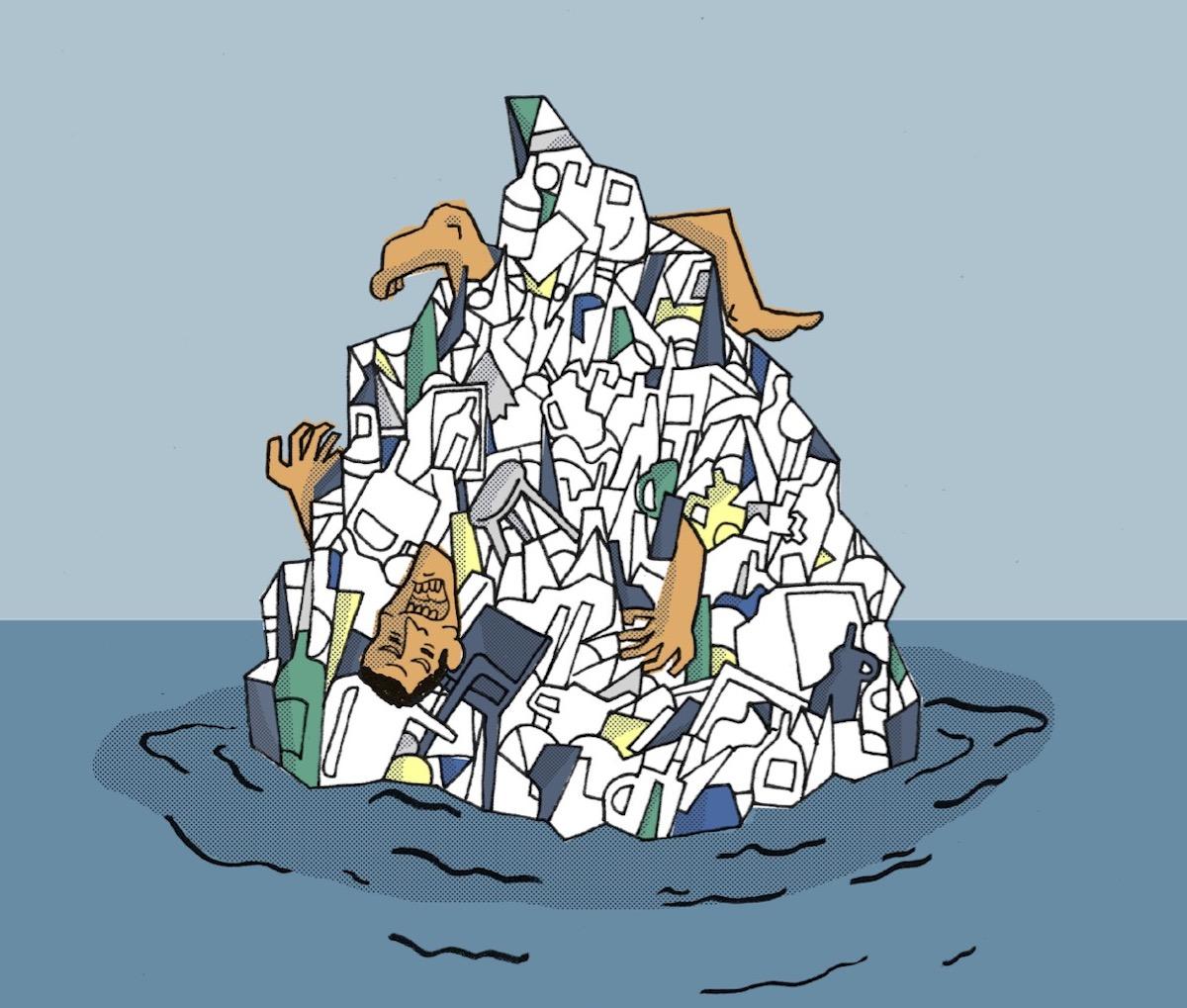 Isola di Plastica opera di Luca Antonuccio
