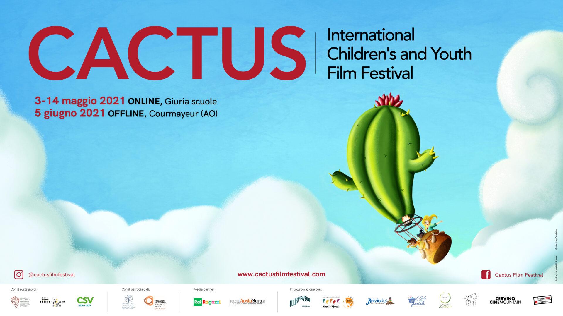 La locandina del Cactus film Festiva: illustranio Annie Roveyaz, progetto grafico Luca Conchatre