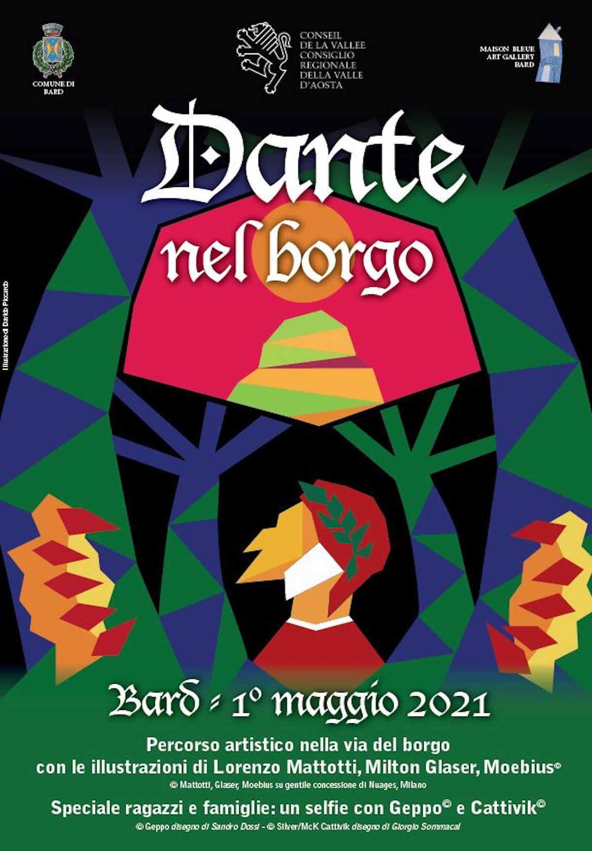 Dante nel borgo Bard