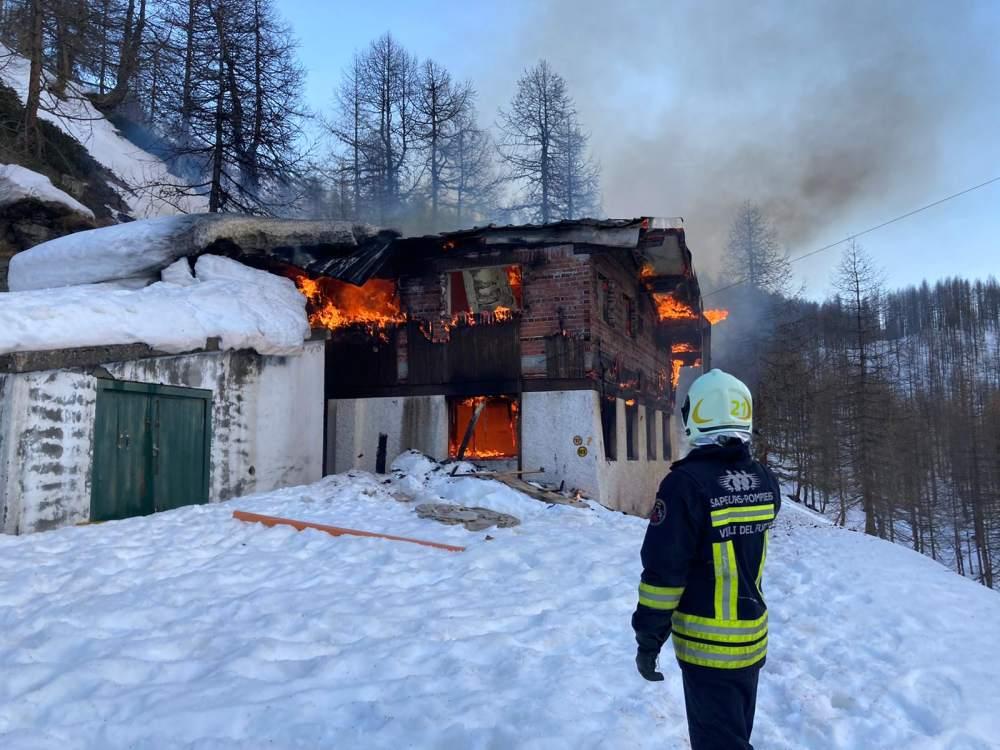 Incendio Cervinia