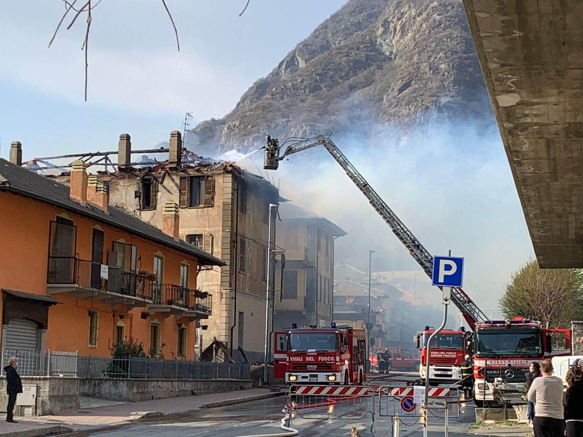 Incendio a Verrès