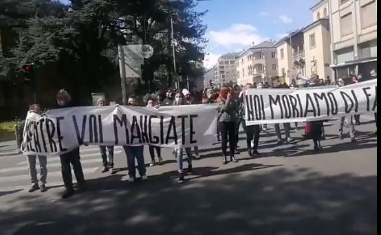 Protesta ristoratori e commercianti