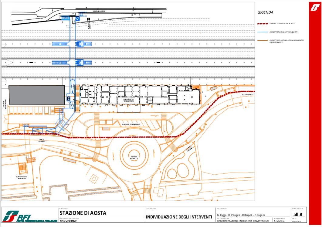 Gli interventi di riqualificazione della stazione di Aosta