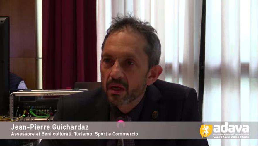 L'Assessore al Turismo Jean-Pierre Guichardaz