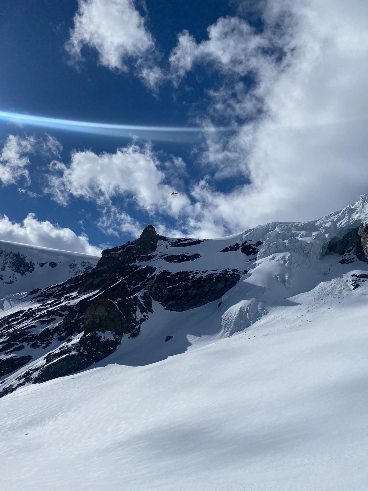 scialpinista caduto crepaccio