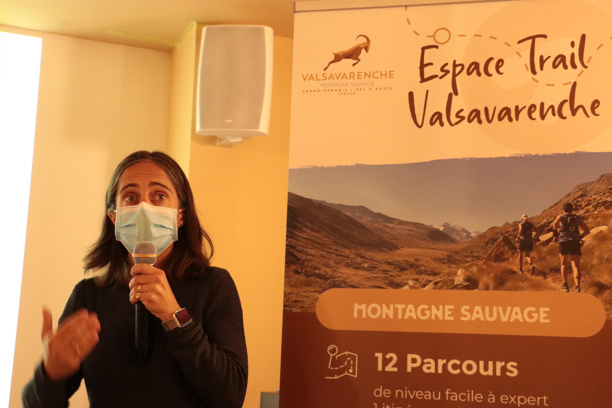 Conferenza stampa Valsavarenche Montagne Sauvage Cécile Lefebvre