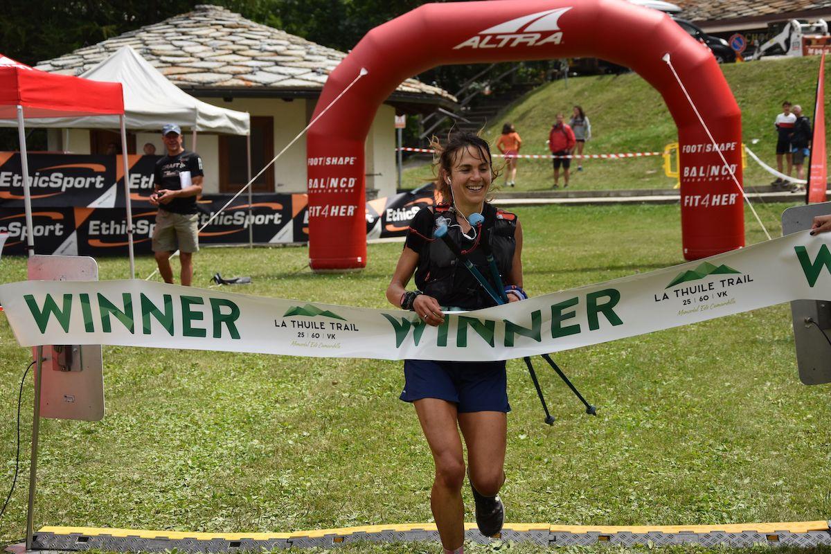 Giulia Sapia vincitrice La Thuile Trail km