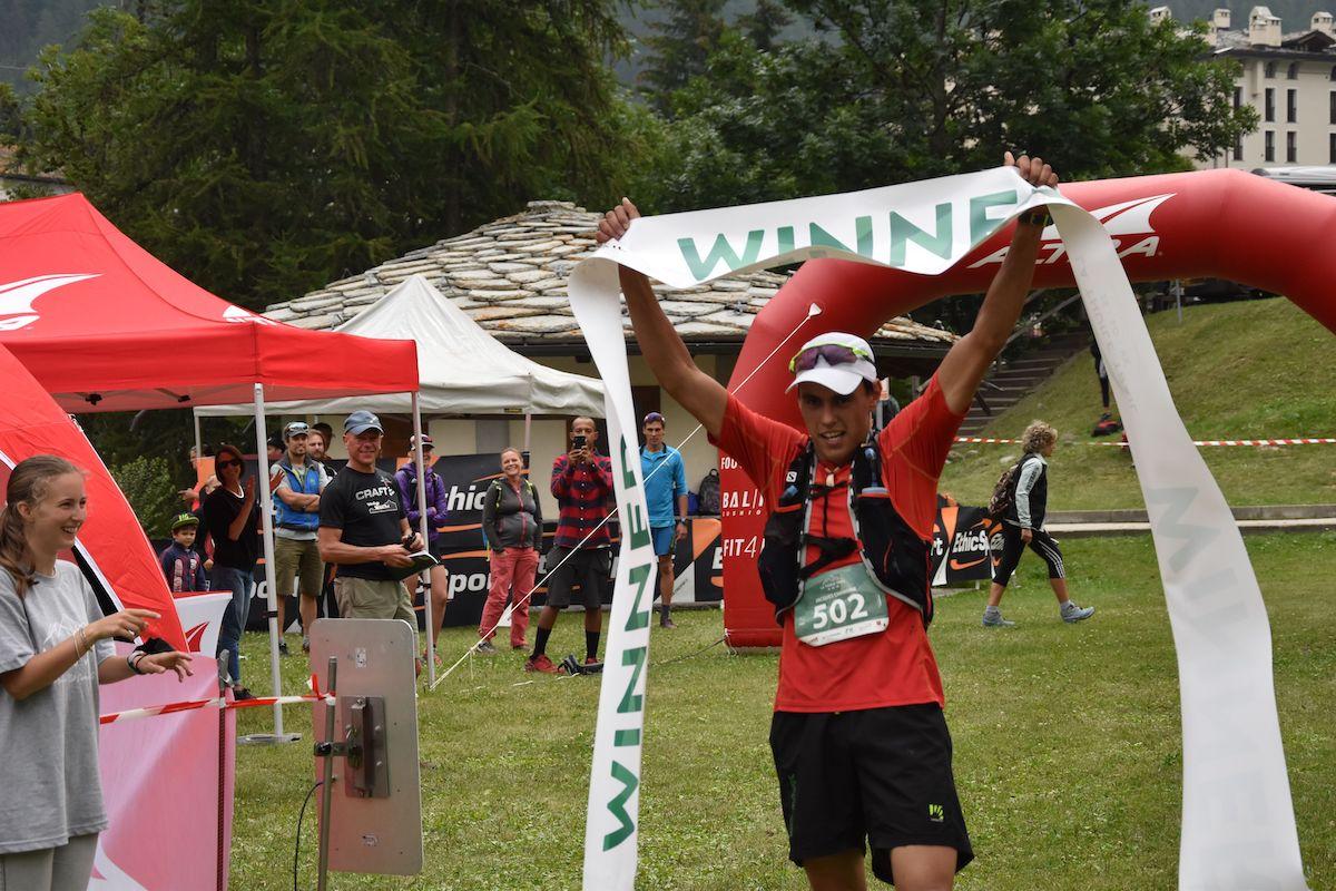 Jacques Chanoine vincitore La Thuile trail km