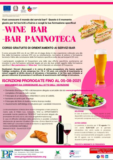 Proroga wine bar e bar paninoteca