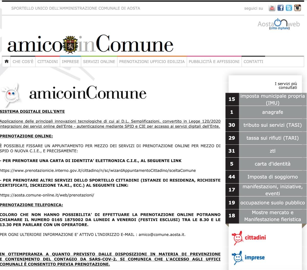 Siti Comune di Aosta