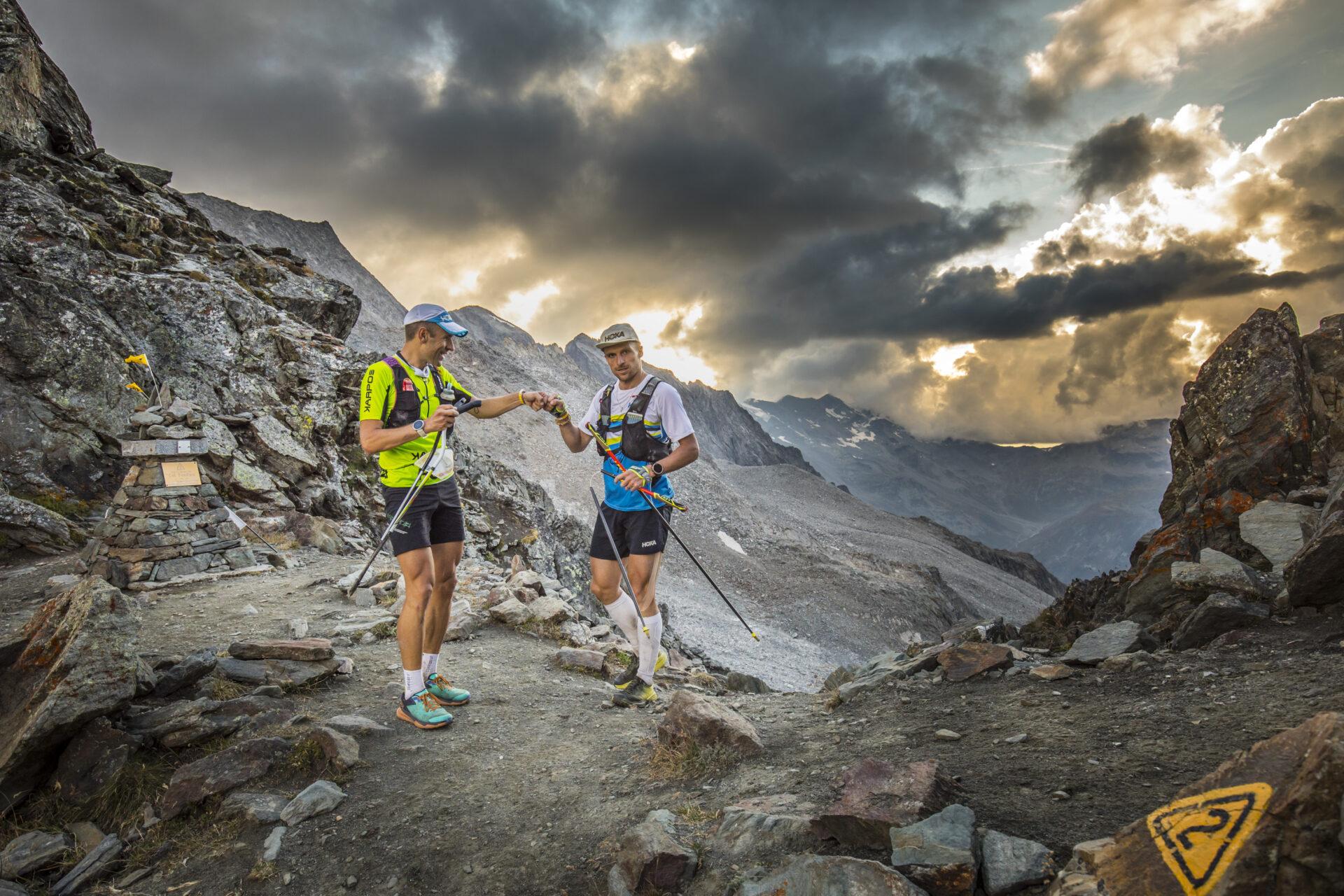 Franco Collé e Jonas Russi al Col fenetre - Foto di Stefano Jeantet