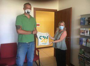 Alessandro Bruno presidente Petite Ferme du Bonheur e Francesca Jaccond segretaria CSV