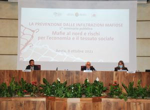 Il magistrato Tartaglia e il professor Ciconte, relatori del seminario.