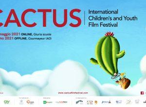 La locandina della prima edizione del Cactus film Festival: illustrazione Annie Roveyaz, progetto grafico Luca Conchatre