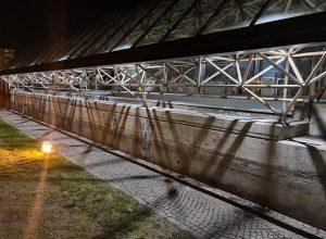 La nuova illuminazione del parcheggio Carrel