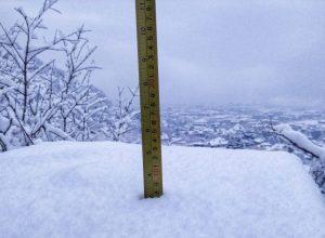 Le neve sulla collina di Aosta