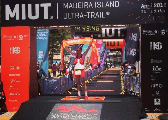 Davide Cheraz all'arrivo del Madeira Island Ultra Trail - foto Instagram