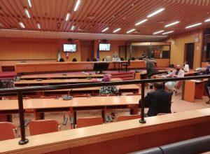 Un'udienza dell'appello Geenna a Torino.