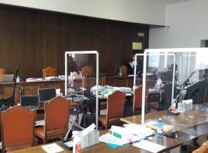 L'aula del processo Geenna.