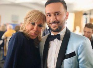 Brigitte Macron e Fabio Porliod