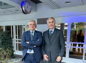 L'Assessore Caveri con Carmine Robustelli, capo delegazione italiana Amb