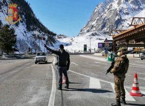 Controlli al Monte Bianco.