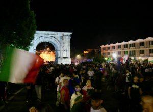 Festa per la vittoria dellItalia