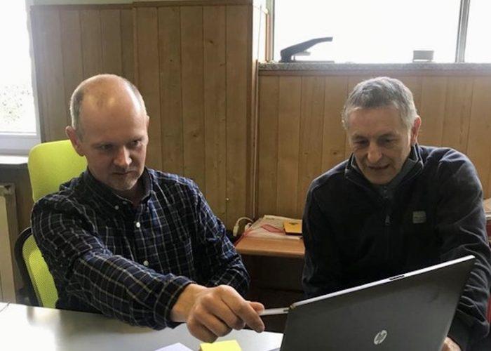 I coordinatori di Area Democratica Gianni Champion e Raimondo Donzel