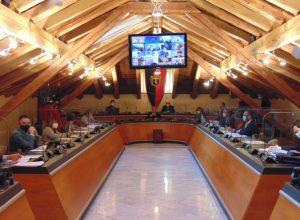 Il Consiglio comunale di Aosta - foto Twitter Città di Aosta