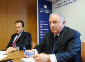 Il direttore di Confcommercio Adriano Valieri ed il Presidente Graziano Dominidiato