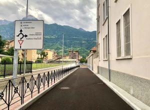 Il prolungamento di via Giorgio Elter ad Aosta