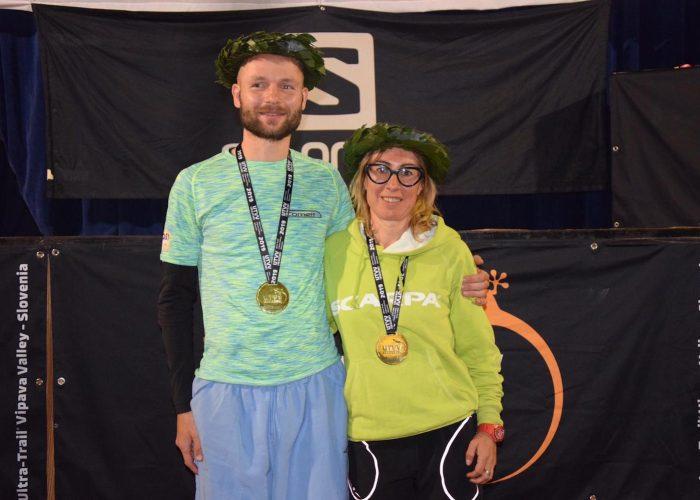 Ivan Hrastovec e Francesca Canepa vincitori della miglia dellUTVV - foto Facebook