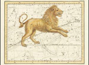 La costellazione del Leone nel volume A Celestial Atlas di Alexander Jamieson