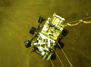 Mars Perseverance Sol 1: Descent Stage Down-Look Camera - NASA/JPL-Caltech