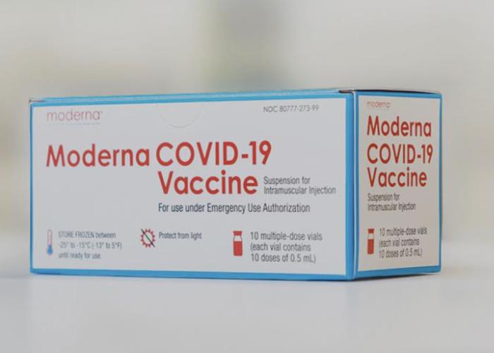 Il vaccino anrticovid prodotto da Moderna