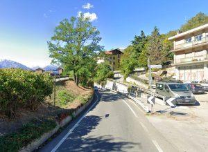 L'ingresso del sottopasso di corso Ivrea, ad Aosta