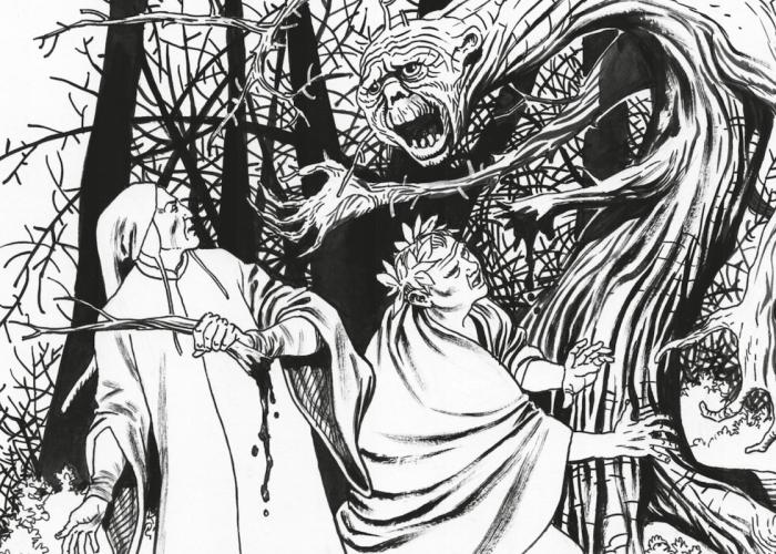 Omaggio a Dante Fumettisti e illustratori omaggiano il sommo poeta © Disegno originale di Giampiero Casertano – fumettista per la Sergio Bonelli Editore