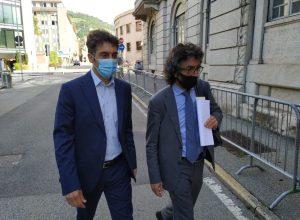 Immagine di archivio. Marco Sorbara (a sx) con il fratello Sandro, suo difensore.