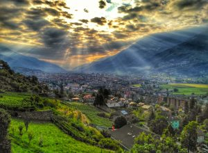 Aosta vista dall'alto