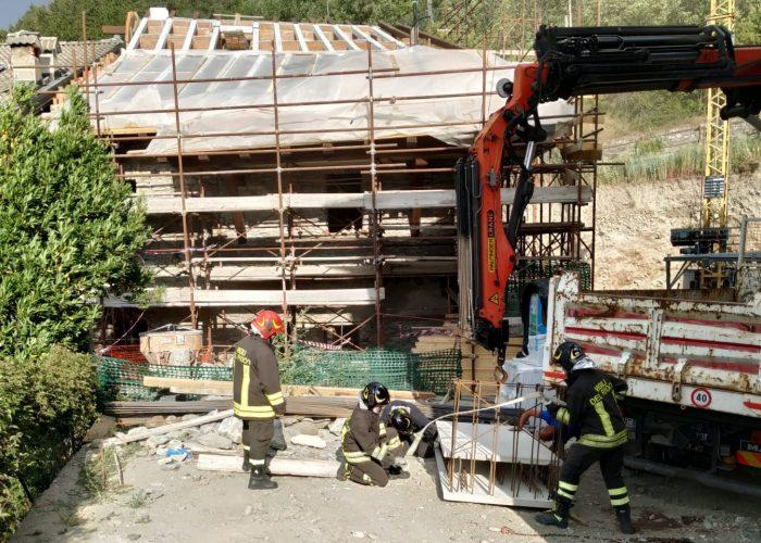 Il cantiere dove si è verificato l'incidente a Gressan